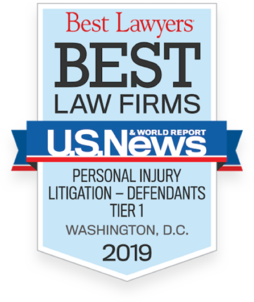 Best Law Firms Badge-Personal Injury Badge DC, 2019