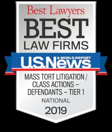 Best Law Firms Badge-Mass Tort Badge National, 2019